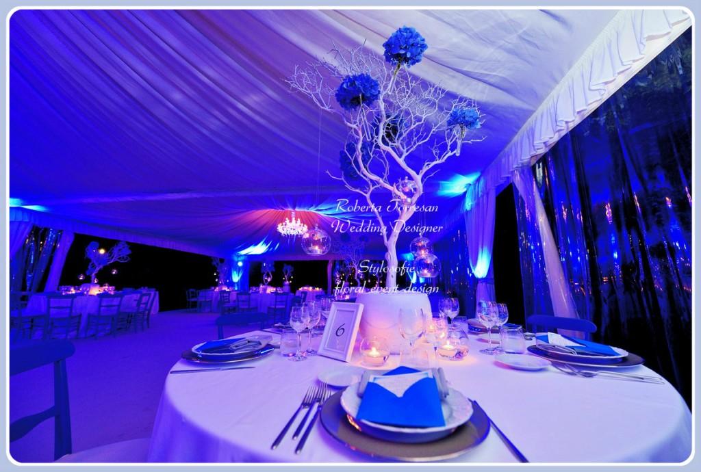 allestimento sala matrimonio ramo manzanite