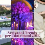 Arrivano i Trends per i Matrimoni 2018