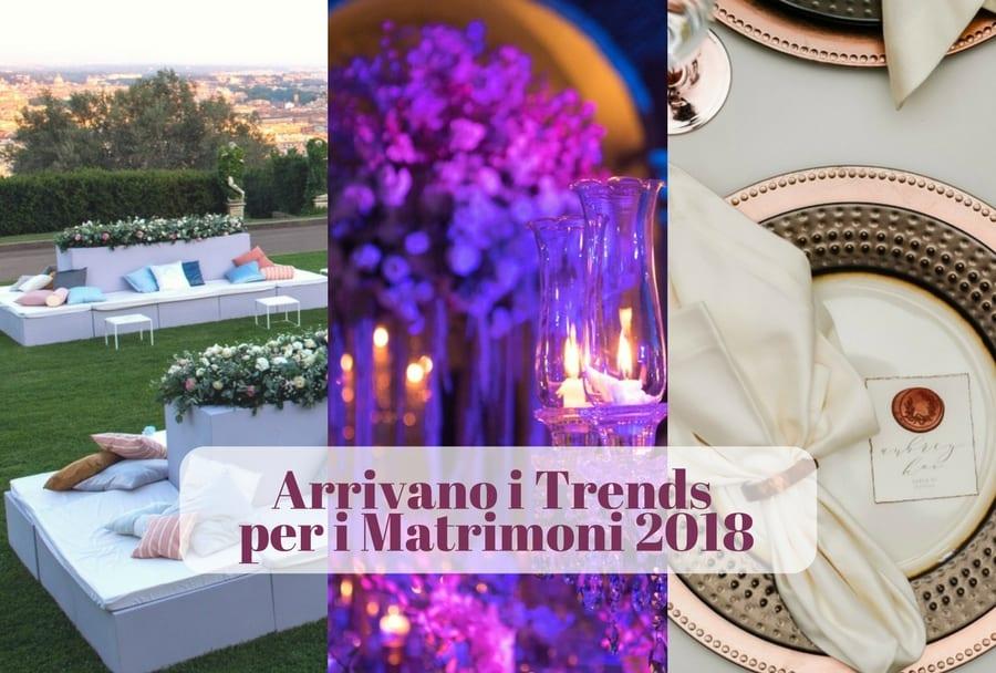 trends per i matrimoni 2018