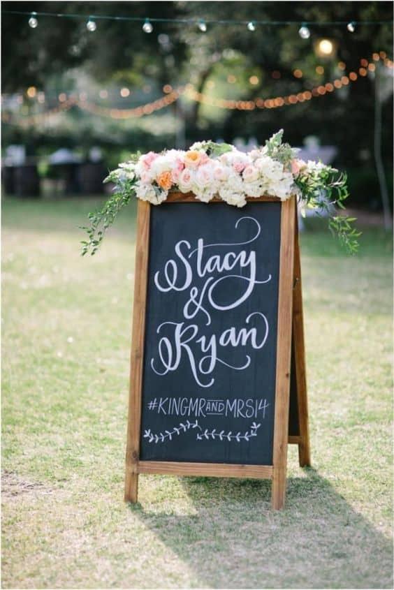 l'hashtag di matrimonio
