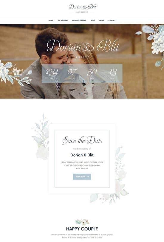 sito web di matrimonio