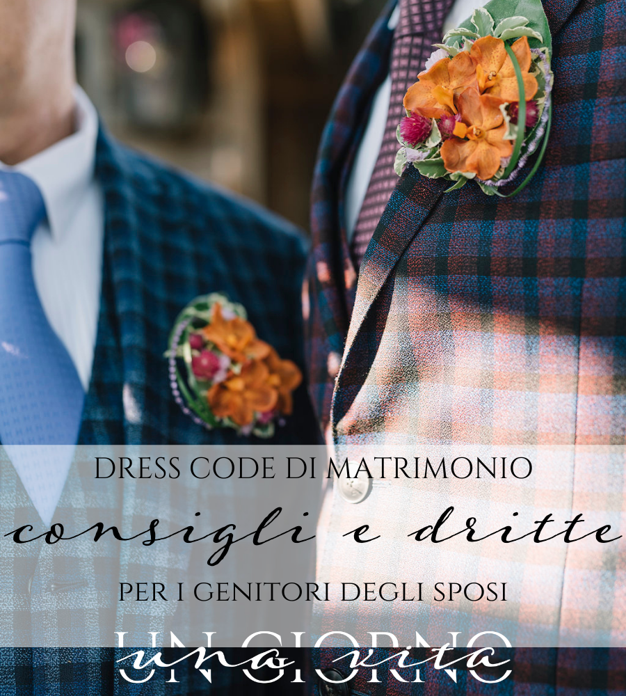 dress code di matrimonio
