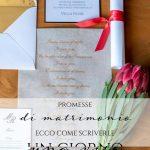 Promesse di matrimonio: ecco come scriverle