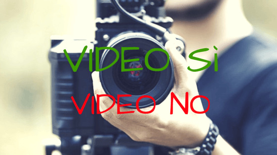 video sì video no le opinioni delle spose