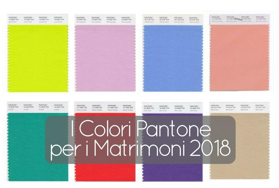 I colori Pantone per i matrimoni 2018 trasmettono energia, sofisticazione e serenità. Nella tavolozza di Pantone per il 2018 troverete sfumature per tutti gusti; eccoprimi 12 colori